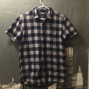 Black and Gray Button Down Shirt